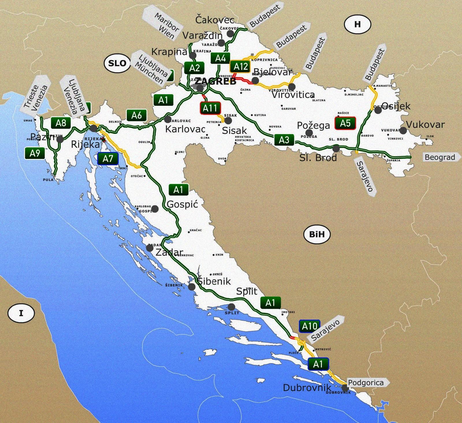 térkép autópálya